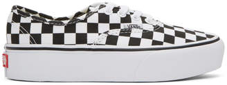 Vans Black and White Checkerboard Authentic Platform Sneakers