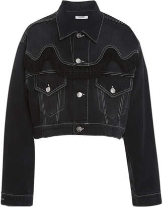 Ganni Black Washed Denim Jacket