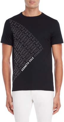 Kenneth Cole New York Black Flocked Logo Tee