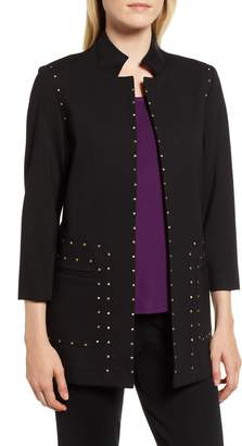 Ming Wang Studded Ponte Jacket