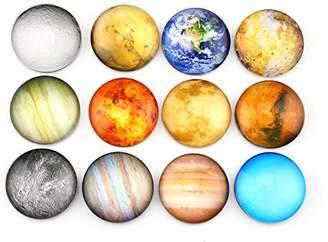 SINKSONS Planetary Pattern Refrigerator Magnets - 12 Pack Fridge Magnets