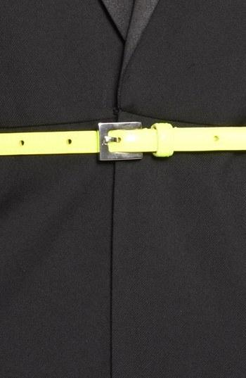 Saint Laurent Leather Skinny Belt