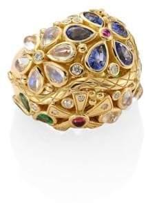 Temple St. Clair Flower Serpent Diamond& Semi-Precious Multi-Stone Ring