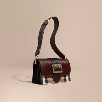 Burberry The Medium Buckle Bag in House Check and Textured Leather $1,295 thestylecure.com