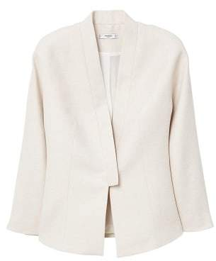 MANGO Linen blazer style jacket