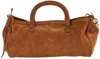 Prada Vintage Camel Suede Handbag