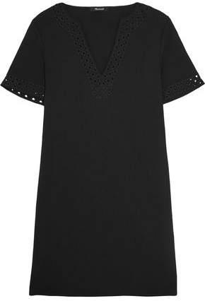 Madewell Gabby Cutout Crepe Mini Dress