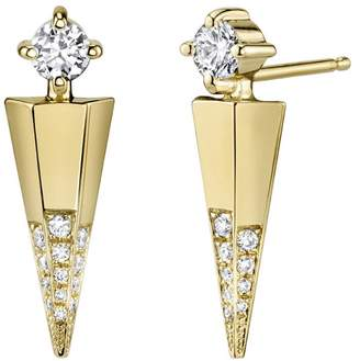 ARK Fine Jewelry Diamond Mini Dagger Earrings - Yellow Gold