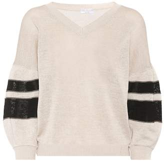 Brunello Cucinelli Embellished cotton sweater
