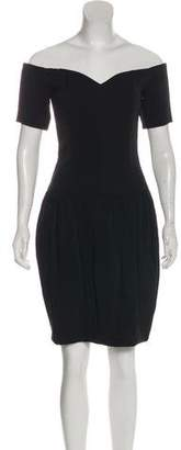 Nicole Miller Short Sleeve Knee-Length Dress