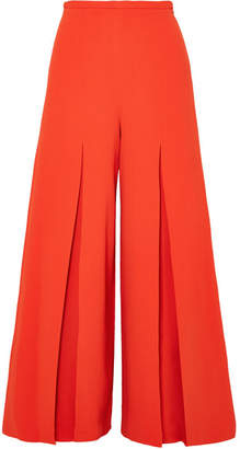 Roland Mouret Huggate Pleated Cady Wide-leg Pants - Orange
