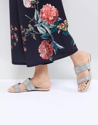 Faith Justin Embellished Slide Sandals
