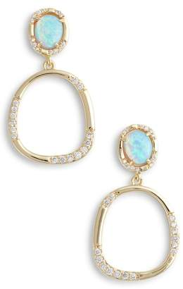 Melinda Maria Luna Opal Drop Earrings