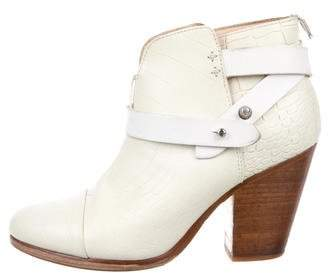 Rag & Bone Embossed Leather Ankle Boots