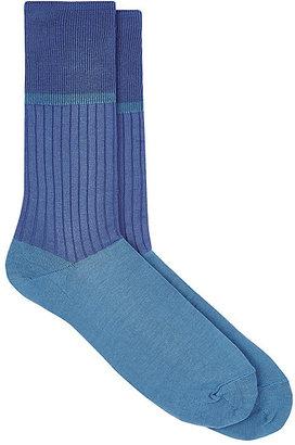 Comme des Garçons Men's Colorblocked Mid-Calf Socks $40 thestylecure.com