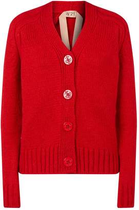 N°21 Embossed Buttons Knitted Cardigan