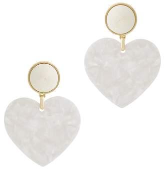 BaubleBar Gigi White Heart Earrings