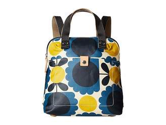 Orla Kiely Matt Laminated Scallop Flower Small Backpack Tote