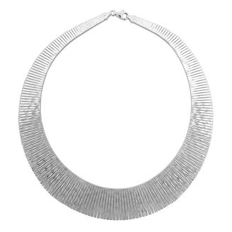 FINE JEWELRY Sterling Silver Collar Necklace $562.48 thestylecure.com