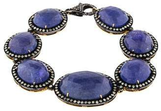 Amrapali Tanzanite & Diamond Station Bracelet