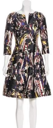 Oscar de la Renta Printed Mini Dress