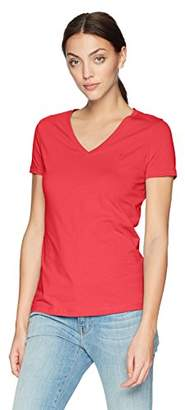 Nautica Women's Short Sleeve Stretch V Neck Solid T-Shirt