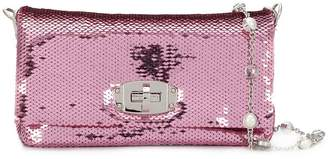 Miu Miu Pink and purple Iconic crystal leather mini bag