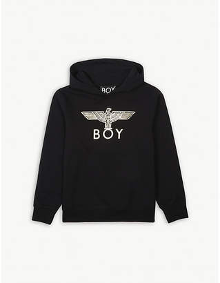 Boy London Foil eagle cotton hoody 12-16 years