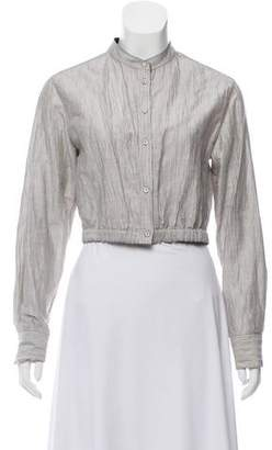 Rag & Bone Cropped linen Cardigan