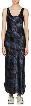 Nili Lotan Women's Camouflage Silk Charmeuse Slipdress