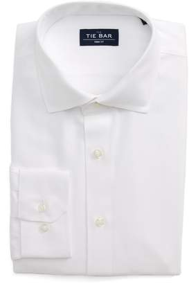 The Tie Bar Trim Fit Herringbone Dress Shirt