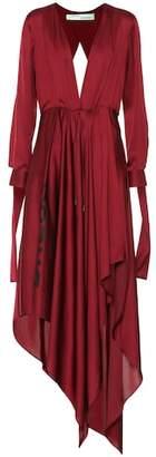 Off-White Silk-blend satin dress