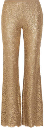 Michael Kors Collection - Metallic Guipure Lace Flared Pants - Gold $1,995 thestylecure.com