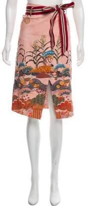Stella Jean Printed Knee-Length Skirt