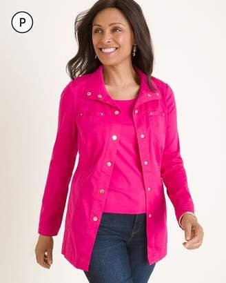 Chico's Chicos Petite Luxe Twill Utility Jacket