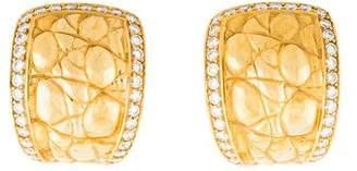 Versace 18K Diamond Huggie Earrings