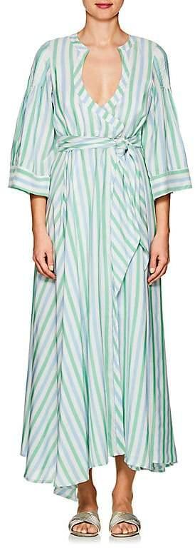Women's Sultane Striped Silk Wrap Dress