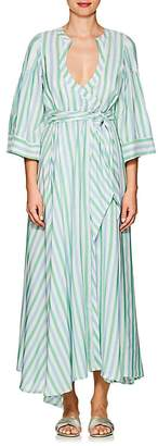 Thierry Colson Women's Sultane Striped Silk Wrap Dress