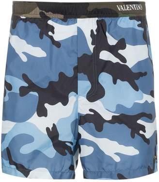 Valentino camouflage print swim shorts