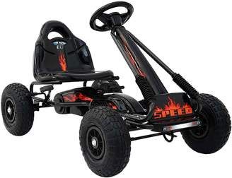 Big Fun Club Zayya Kids' Pedal-Powered Go Kart, Eva Black