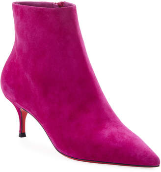 Christian Louboutin So Kate Suede Red Sole Ankle Booties