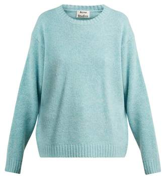 Acne Studios Samara Wool Sweater - Womens - Light Blue