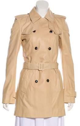 Balenciaga Leather Double-Breasted Coat