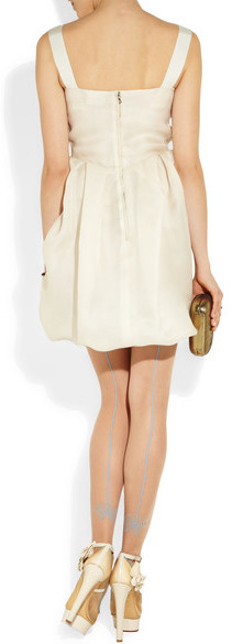 Charlotte Olympia Flora Leather And Mesh Pumps - Ivory