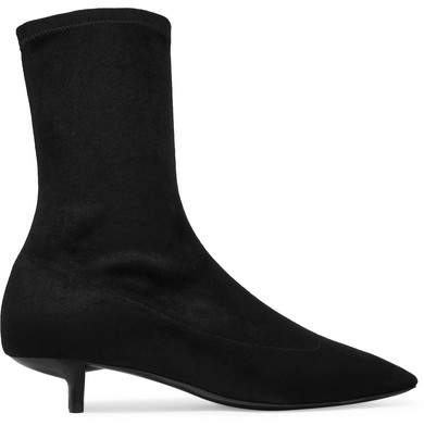 Stella McCartney - Faux Stretch-suede Sock Boots - Black