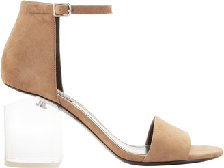 Alexander Wang Abby Lucite Heel Clay Sandals $495 thestylecure.com