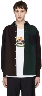 Leon Aime Dore Multicolor Colorblocked Chamois Sport Shirt