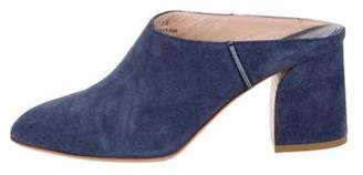 Tod's Suede Round-Toe Mules
