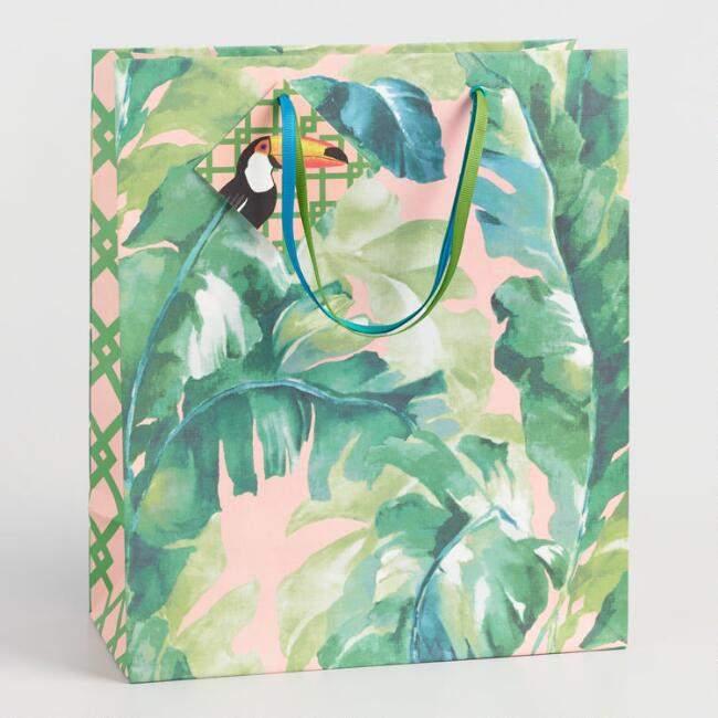 Large Jungle Plantation Kraft Gift Bag