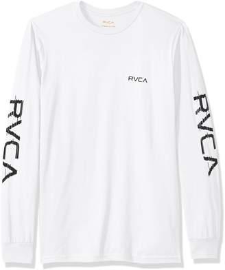 RVCA Young Men's Glitch Long Sleeve Tee Shirt, -, XL